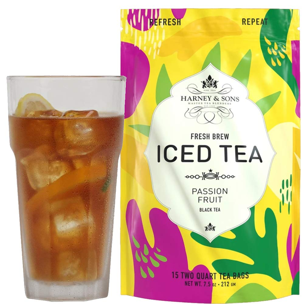 Harney & Sons Fresh Brew Passion Fruit Iced Tea, 15 Count