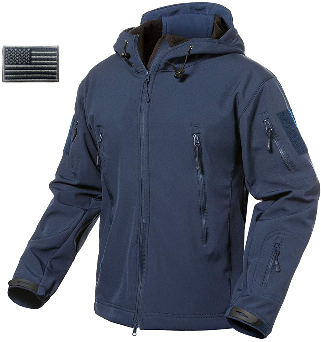 ReFire Gear Mens Army Special Ops Military Tactical Jacket Softshell Fleece Hooded Outdoor Coat