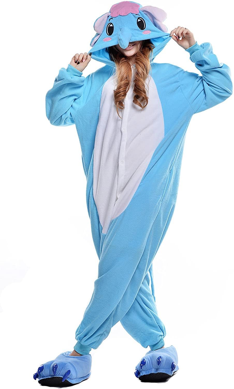 CANASOUR Unisex Halloween Elephant Womens Onesie Costume Party Cosplay Pyjamas
