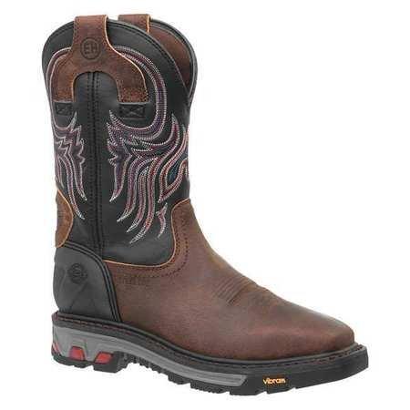 Justin Original Workboots Work Boots 10-1/2 EE Brown Steel PR