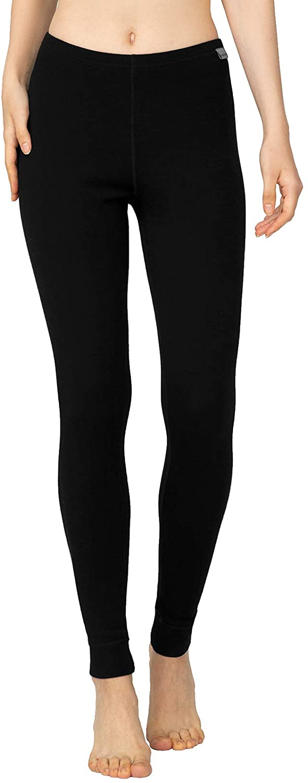 LAPASA Women's 100% Merino Wool Midweight Thermal Leggings Breathable Long Johns Underwear L49