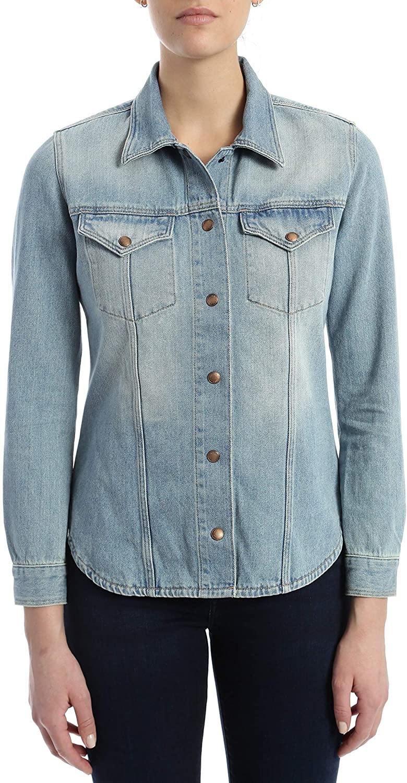 Mavi Women's Carol Denim Shirt, Shaded Gold ICON, S