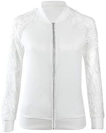 Womens Long Sleeve Lace Suit Casual Jacket Coat Outwear Dress