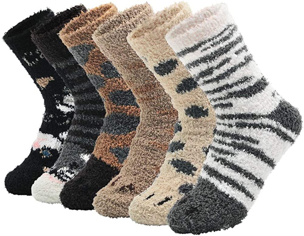 VEAGIA Women Fuzzy Fluffy Slipper Socks Cozy Warm Super Soft Sleeping Socks
