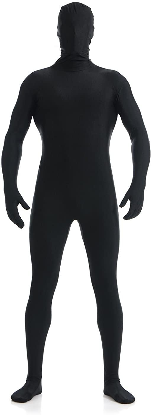 Black Bodysuit Full Spandex Suit Zentai Unisex Costume for Halloween Cosplay Fit for Teen Kids Women Men