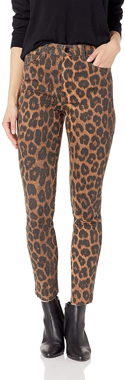 Joe's Jeans Women's Charlie High Rise Skinny Ankle Leopard Jean