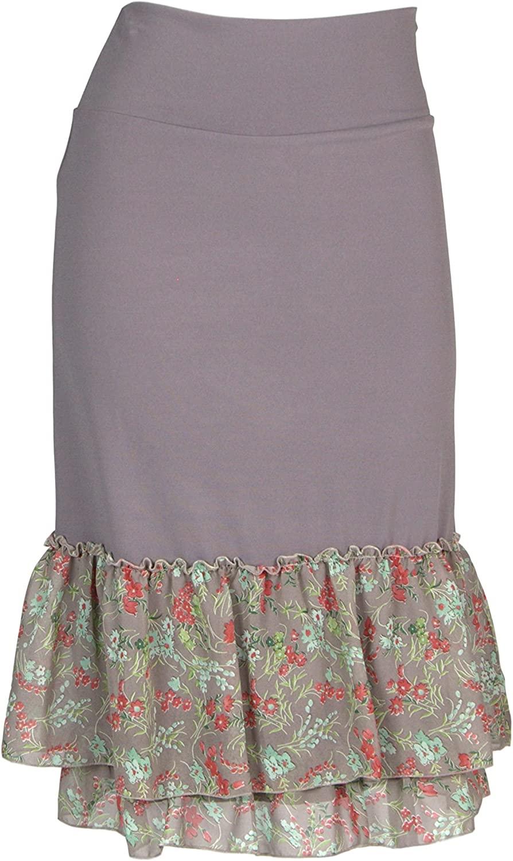 Peekaboo-Chic Magnolia Floral Print Half Slip Skirt Extender - Petite Half Slip - Skirt Extenders for Women