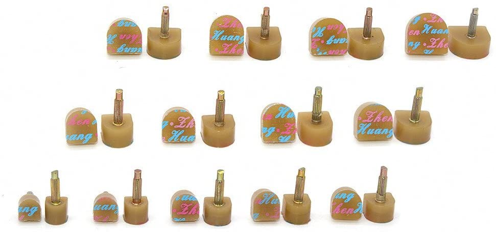 Medigy 13 Pair Heel Repair Tips Taps High Heel Caps Shoes Replacement Dowels 13 Kinds of Sizes,Khaki