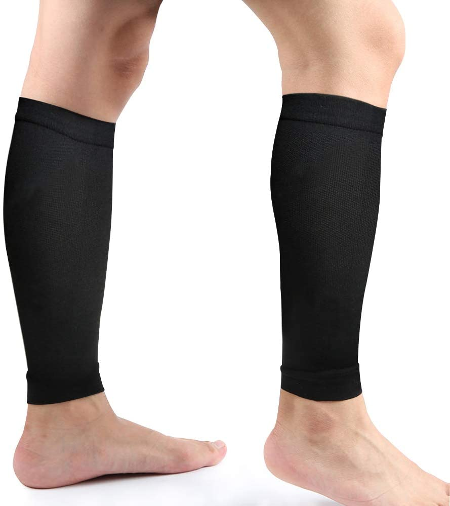 Calf Compression Sleeve, Leg Compression Socks, Calf and Shin Support Relieve Calf Pain for Men Women Youth for Running, Cycling, Crossfit, Walking and More - Multicolor