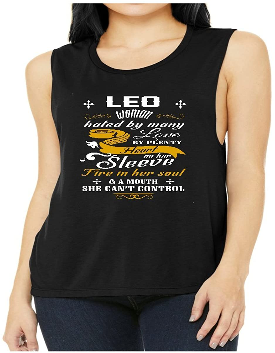 Leo Woman Hated by Many Loved by Plenty Heart On Her Sleeve Shirt - Tank Top