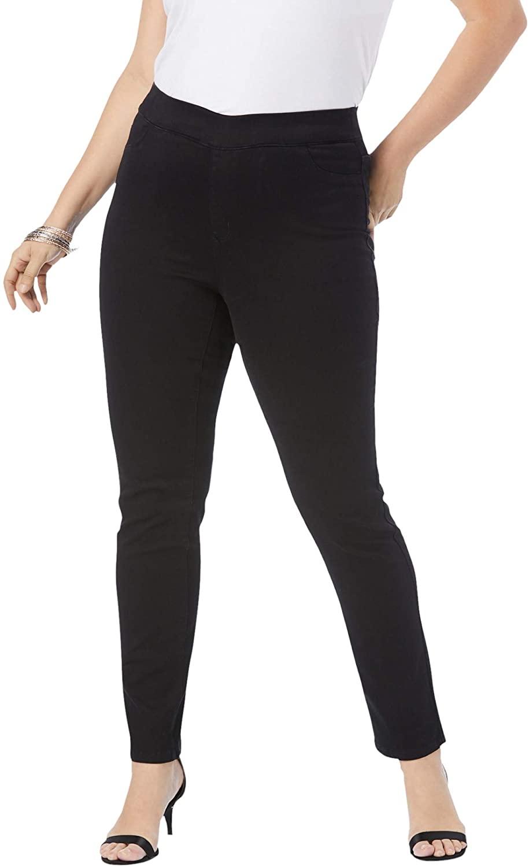 Roamans Women's Plus Size The Straight-Leg No-Gap Jean