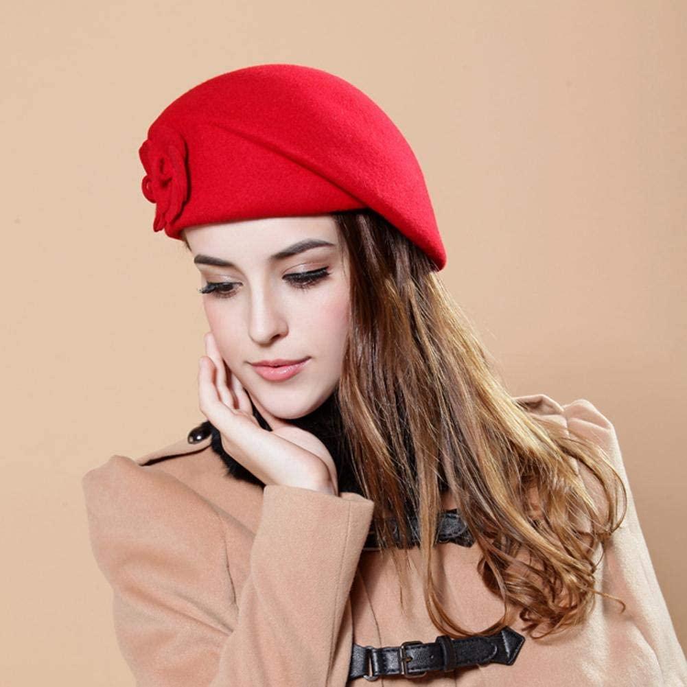 Angelhood Women Casual Beret Hat,Women's Flat Caps,Women Wool Beret Hat for Autumn Winter