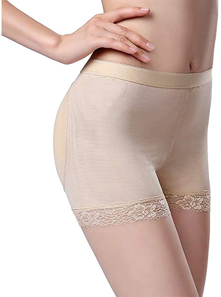 Aivla Womens Butt Lifter Padded Panties Enhancer Underwear Lace Body Shapewear Boyshort