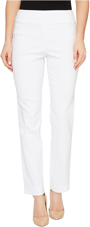 Krazy Larry Women's Pull on Ankle Pants White 4