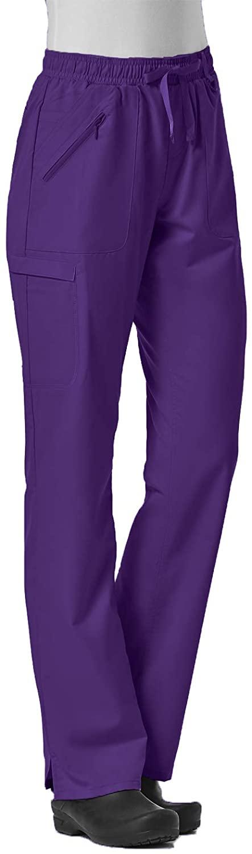 Maevn Women's EON Full Elastic Cargo Pant(Grape, Medium Tall)