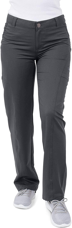 Coast Oak Clothing Women's Anti-Microbial Stretch Wrinkle & Stain Resistant Del Mar Scrub Pants Grey