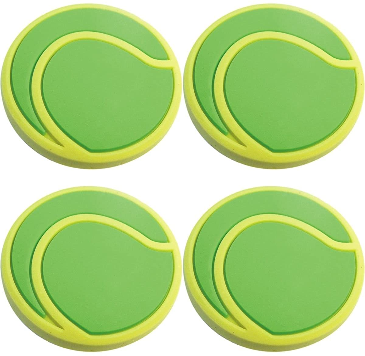 Four (4) of Tennis Ball Rubber Charms for Wristbands and Shoes
