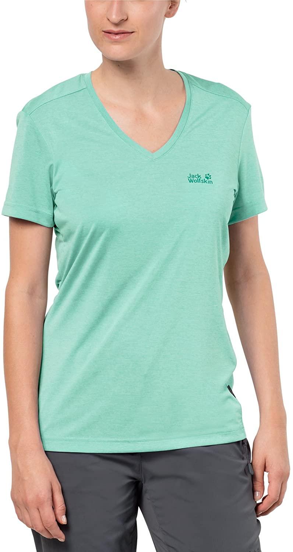Jack Wolfskin Women's Crosstrail t T-Shirt Short sleeve, X-Small, Pale Mint