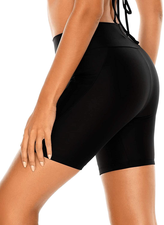 RELLECIGA Women's High Waisted Board Shorts Swimwear Shorts Bike Shorts