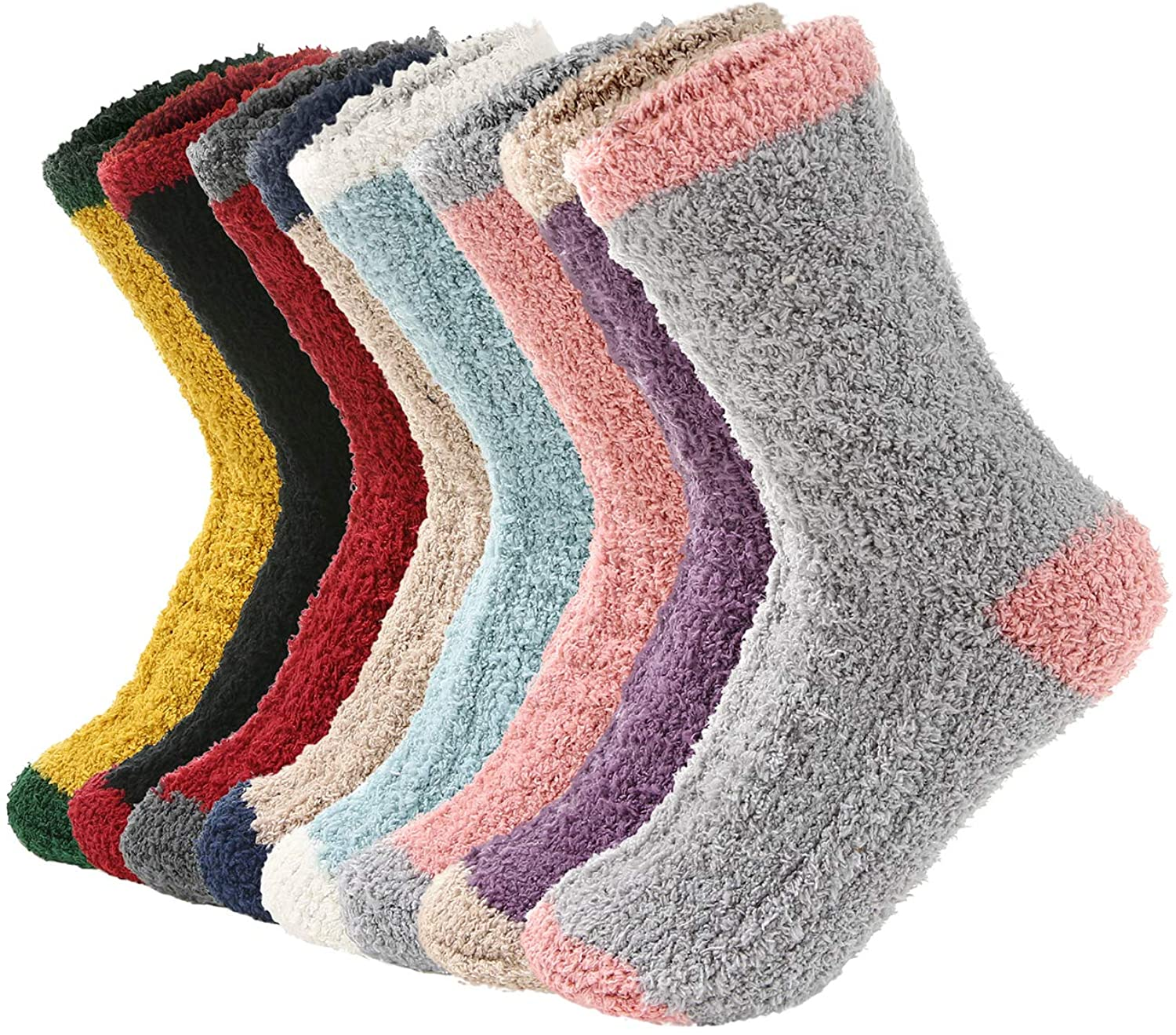 Womens Socks Warm Fluffy Fuzzy Athletic Socks Cute Cozy Socks Fall Winter Fleece Sleeping Socks