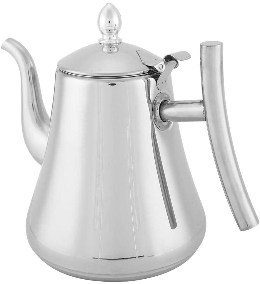 Stainless Steel Teapot, Newness Polished Small Spout with Well-Made Tea Filter Exquisite Tea Pot with Lid Tea Kettle for Home