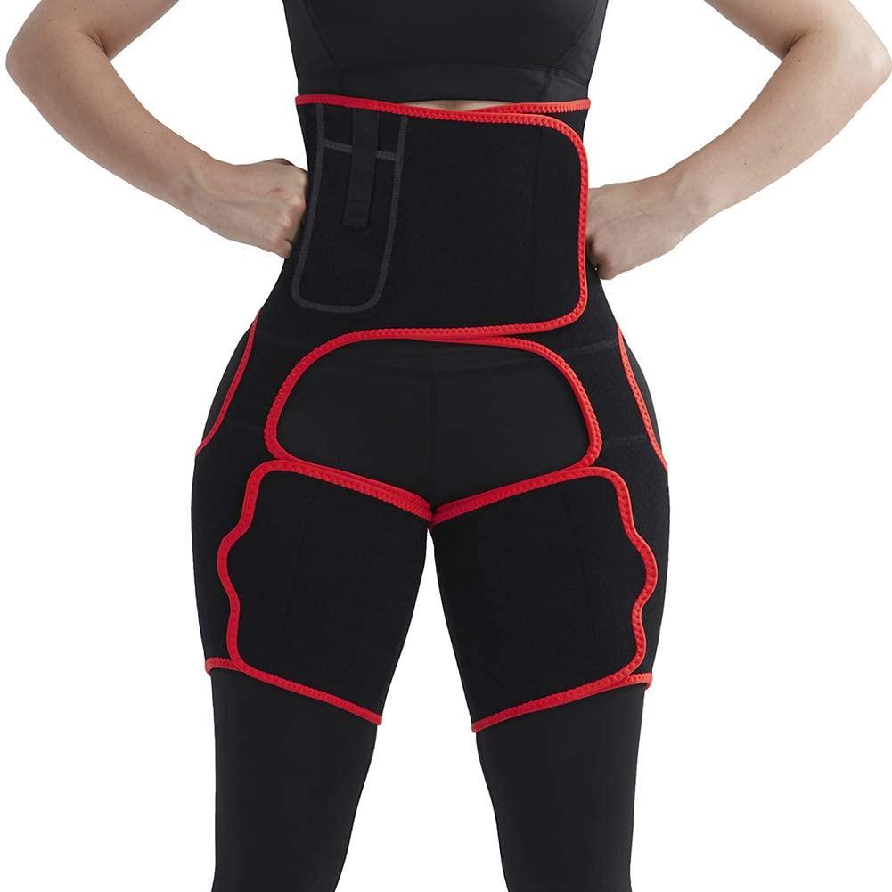 FeelinGirl Neoprene Sweat Thigh Trimmer for Women Weight Loss Waist Trainer Belt Butt Lifter Traing Shaper