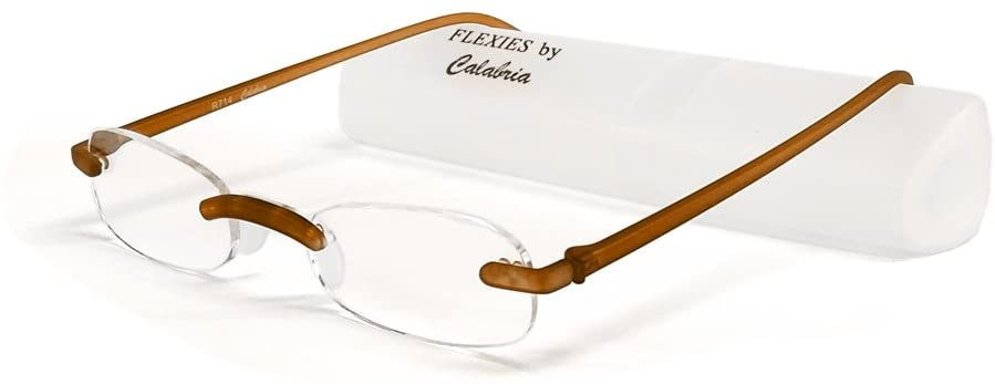 Calabria Reading Glasses - 714 Flexie in Root Beer +1.00