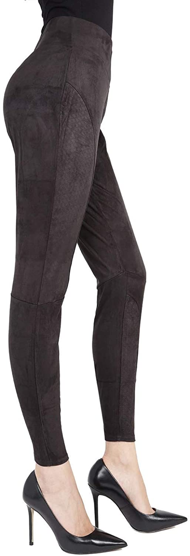 SlimMe MeMoi Vegan Suede Shaping Leggings | Women's Premium Shaping Leggings