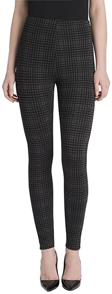 Lysse Women's Natalie Legging (Charcoal Check,XL)