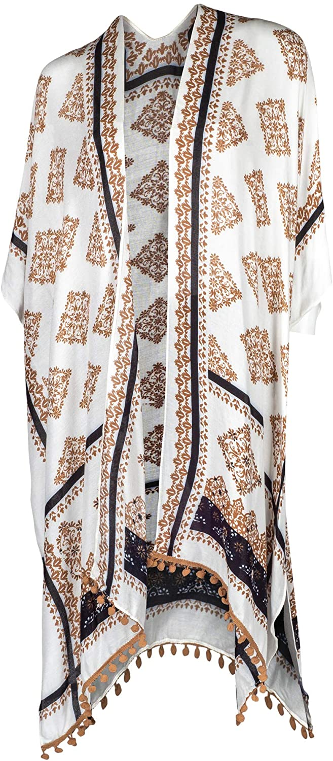 One Size Fits Most Polyester Blend Kimono