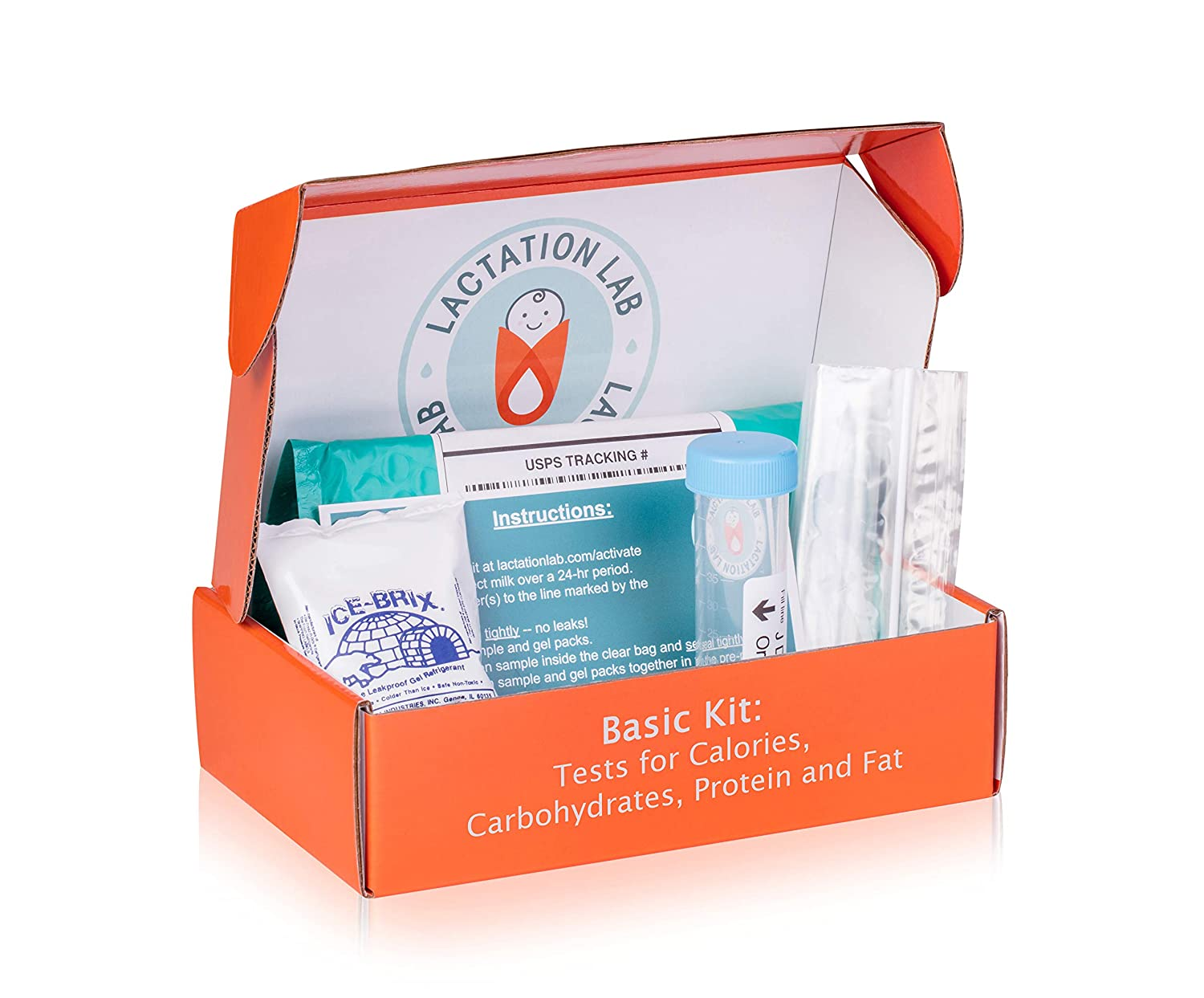 Lactation Lab Breast Milk Nutritional Analysis Kit - Basic: Tests for Calories, Carbohydrates, Fat, Protein