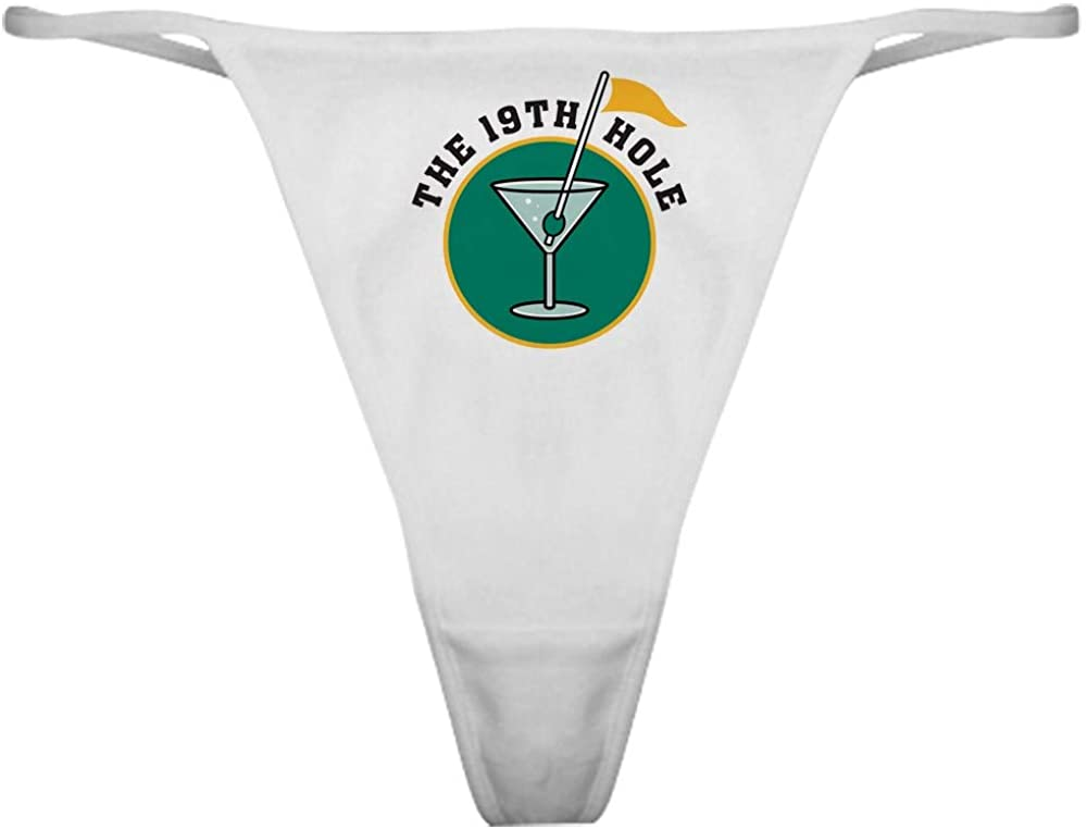 CafePress 19Th Hole Thong Underwear, Funny Womens Panties