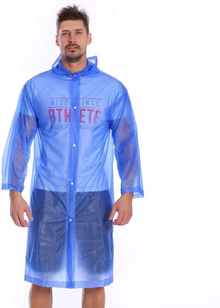 TYONMUJO Portable Hooded Raincoat Waterproof for Adult Men Women Outdoor Camping
