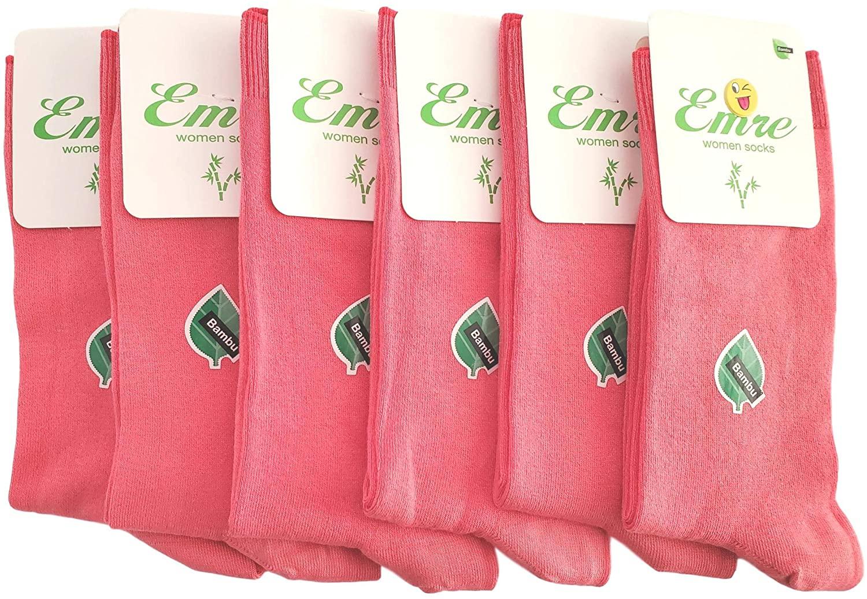 Emre Luxury Bamboo Socks Seamless Womens Natural Dress Socks Luxurious Turkish