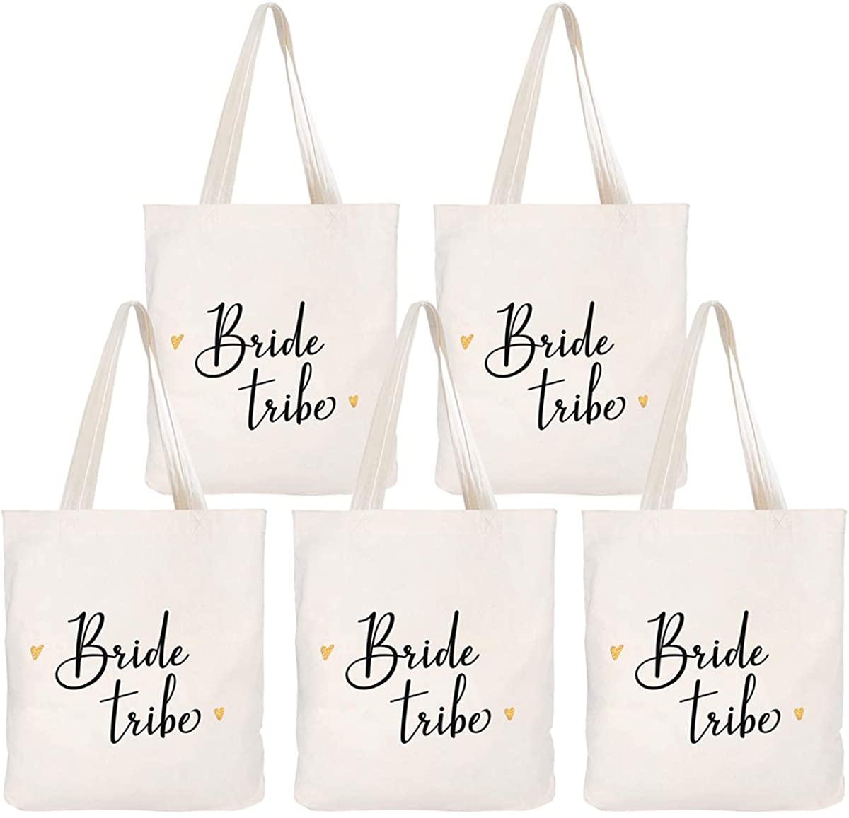 Caraknots Women Best Bridesmaid Bag Wedding Bridal Shower Gifts Canvas Tote Bag Cotton