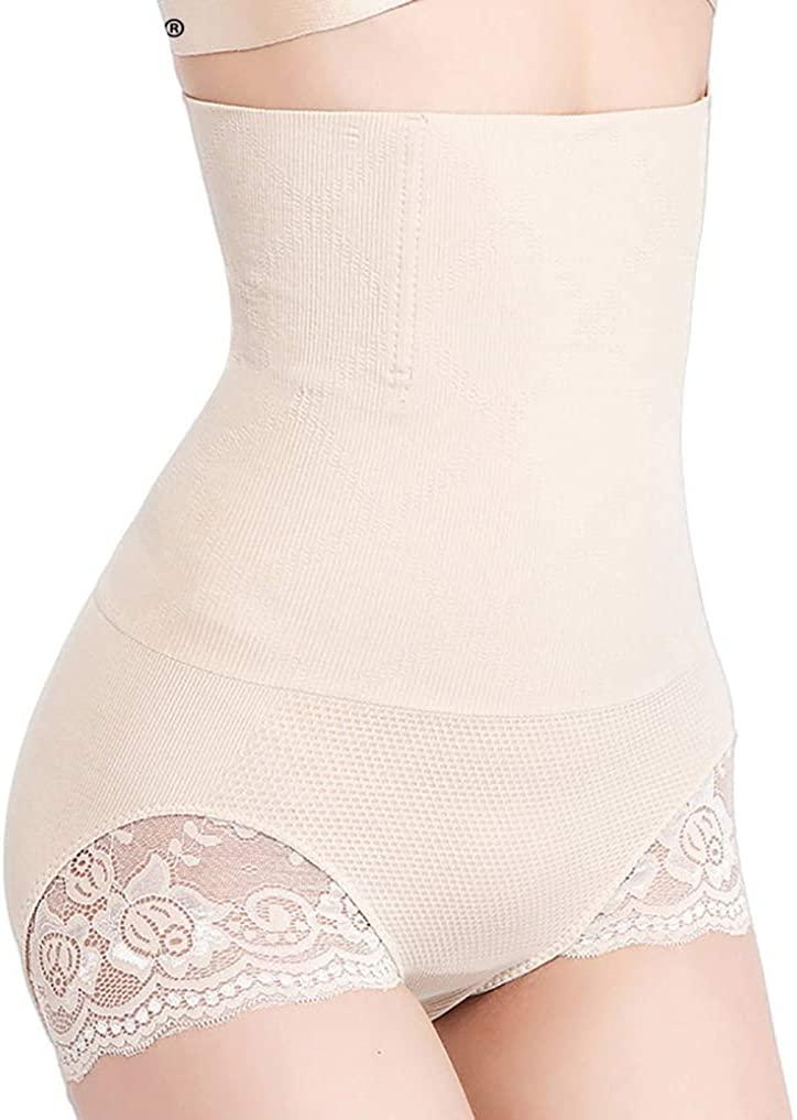 High Waist Tummy Control Panties Body Shaper Seamless Lace Butt Lifter Briefs Bodysuit for Women