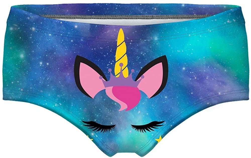 Angelteers Womens Galaxy Unicorn Hipster Panties Cute Cartoon Mid-Rised Briefs