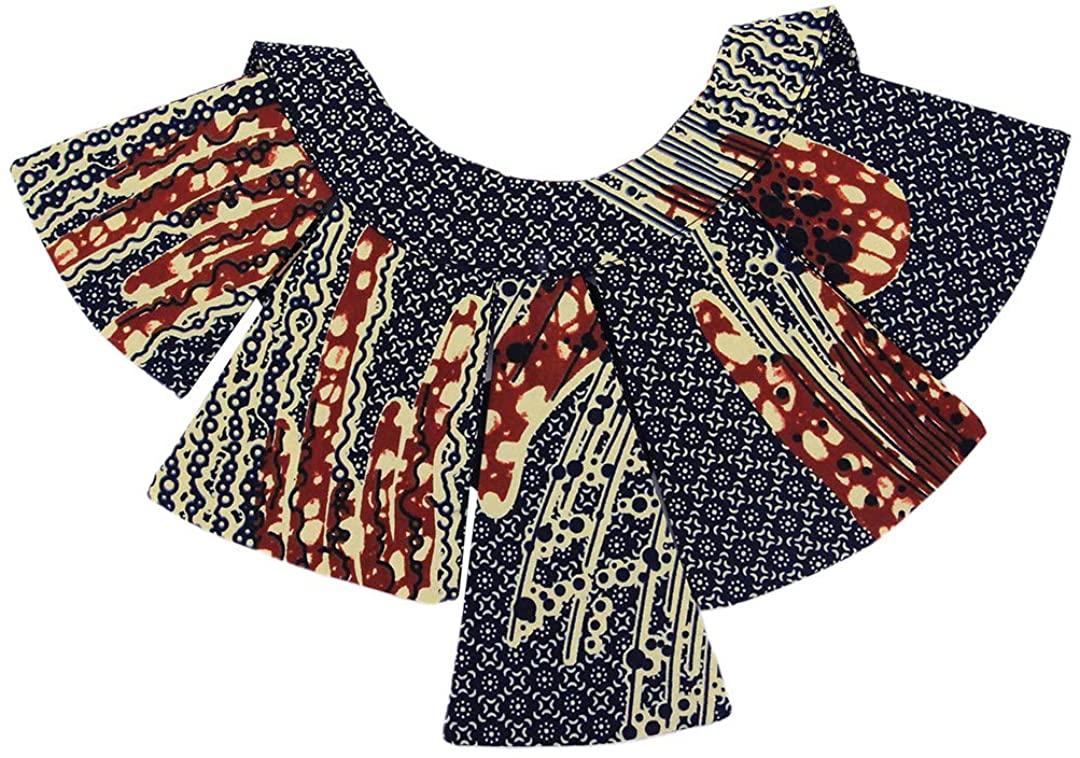 Surkat African Fabric Collar Necklace Irregular Shaped Choker Costume Accessory