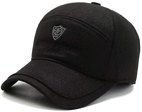 Men hat Winter Ear Protection Baseball Cap Warm Old Man Cap dad Autumn Winter caps