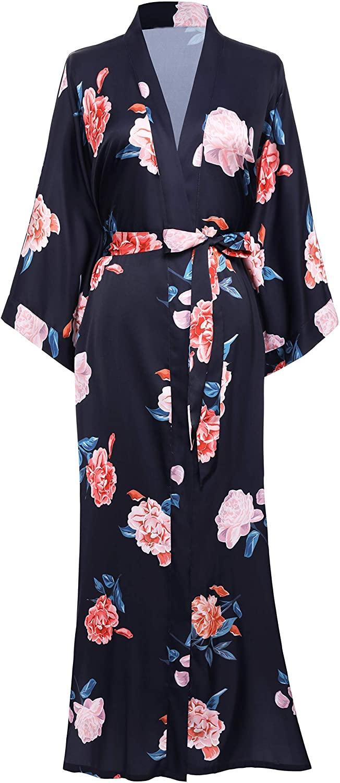 BABEYOND Long Print Kimono Robe Blouse Kimono Cover Up Loose Cardigan Top Outwear