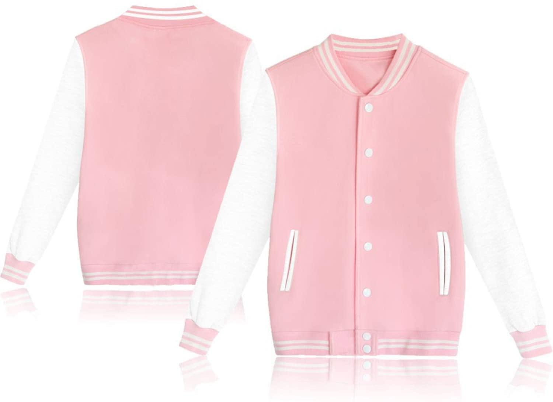 BOSON Women's Men's Baseball Jackets Unisex Varsity Hoodie Sweatshirts Casual Sport Sweater Coat