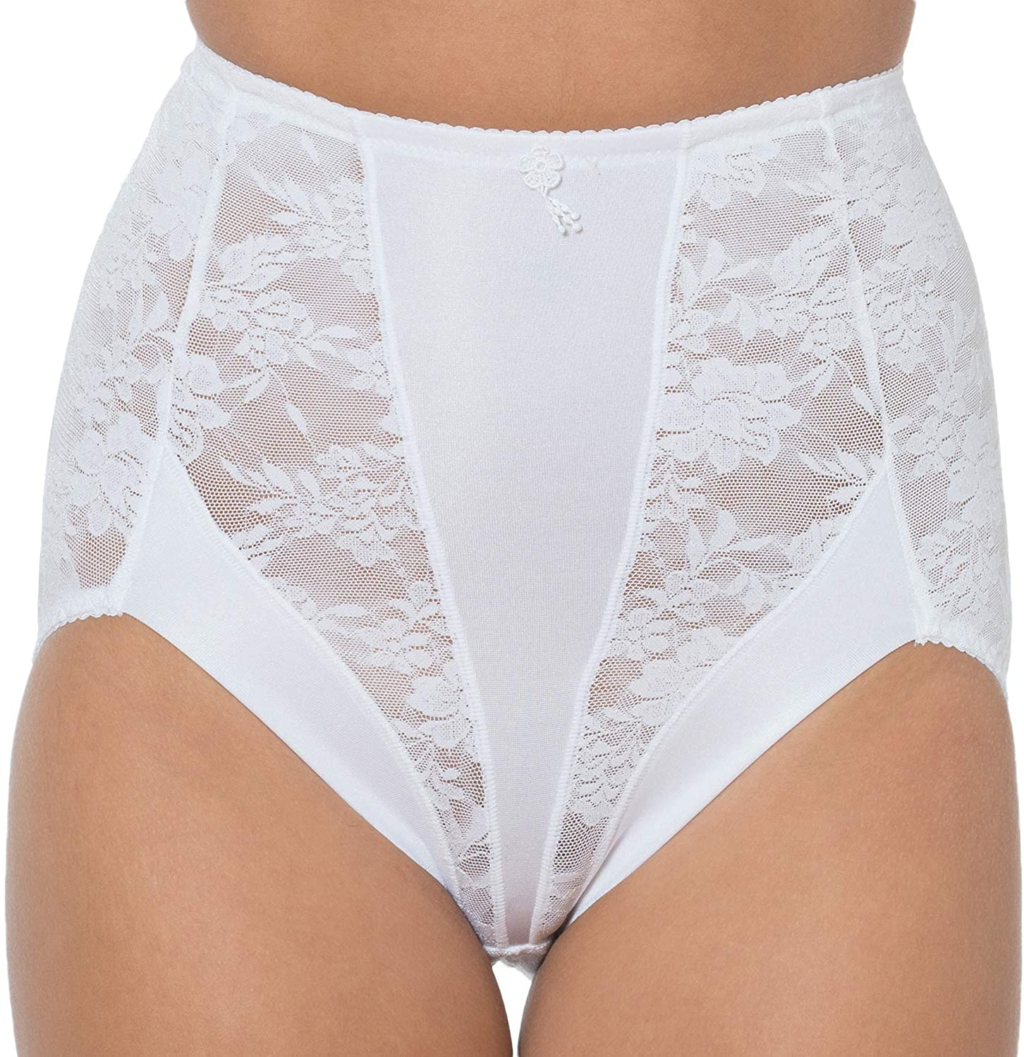 Cortland Intimates Style 4096 - High Waist Shaper Panties - Lace Panty Brief