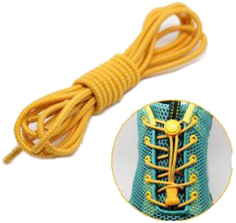 Blancho Bedding 2 Pairs/Set No tie Elastic Shoelaces Lock Easy lace for Kids,Men & Women 22 Colors # 18