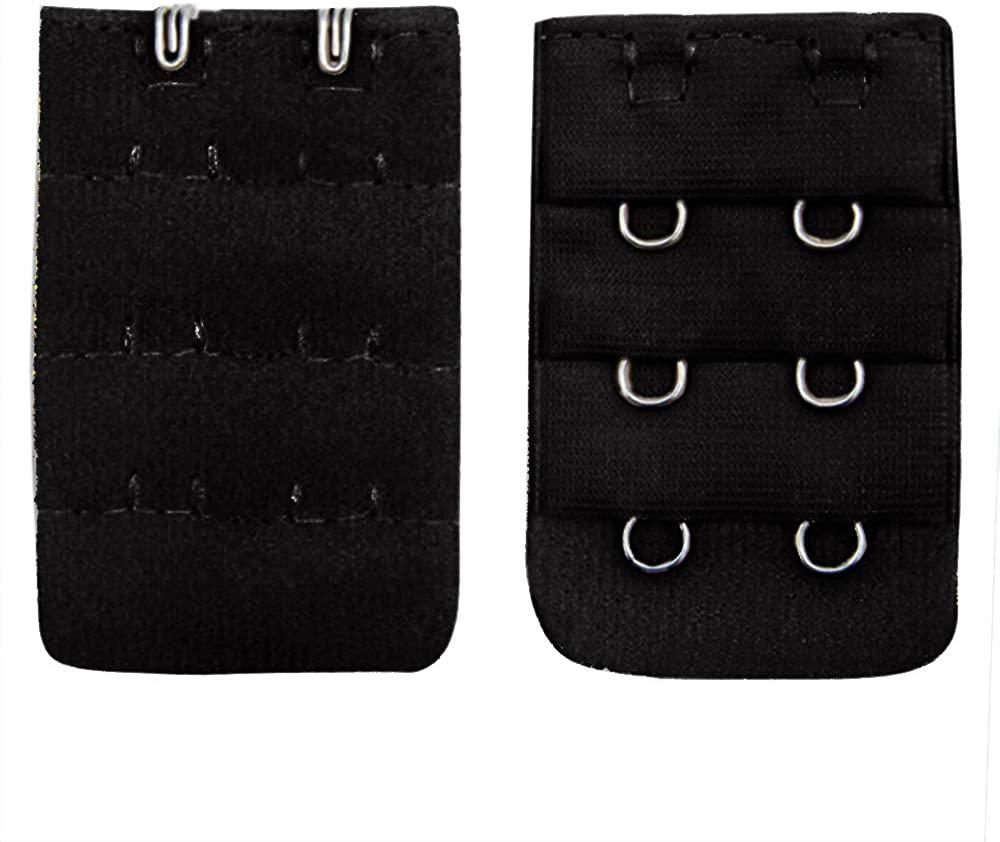 VICCKI Women Soft Comfortable Bra 2x3 Hooks Extender Strap Adjustable Extension