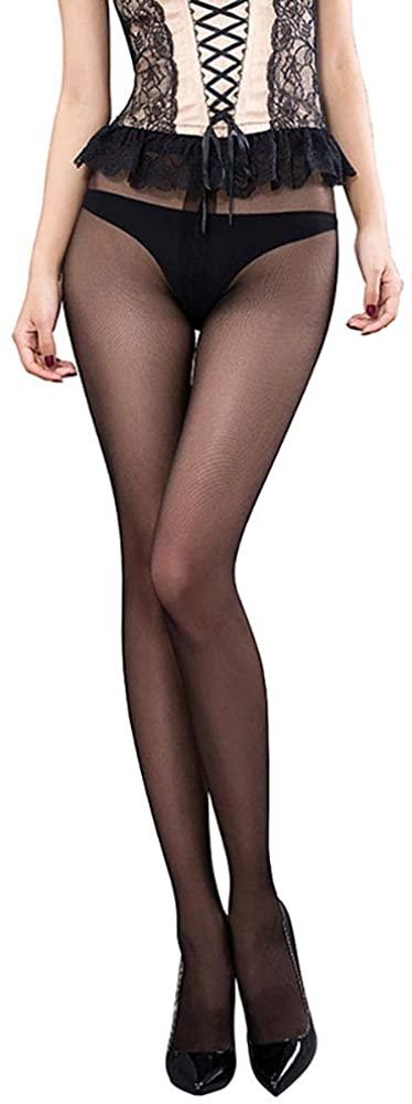 Women's Sheer High Waisted Control Top Tights Ultra Thin Silk Pantyhose