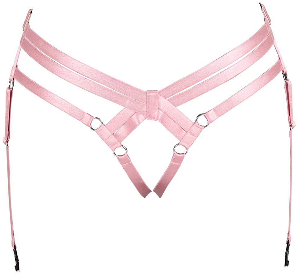 BBOHSS Women Body Harness Punk Garter Belt Leg Waist Cage Elastic Elastic Adjustable Size Harajuku Gothic Accessories