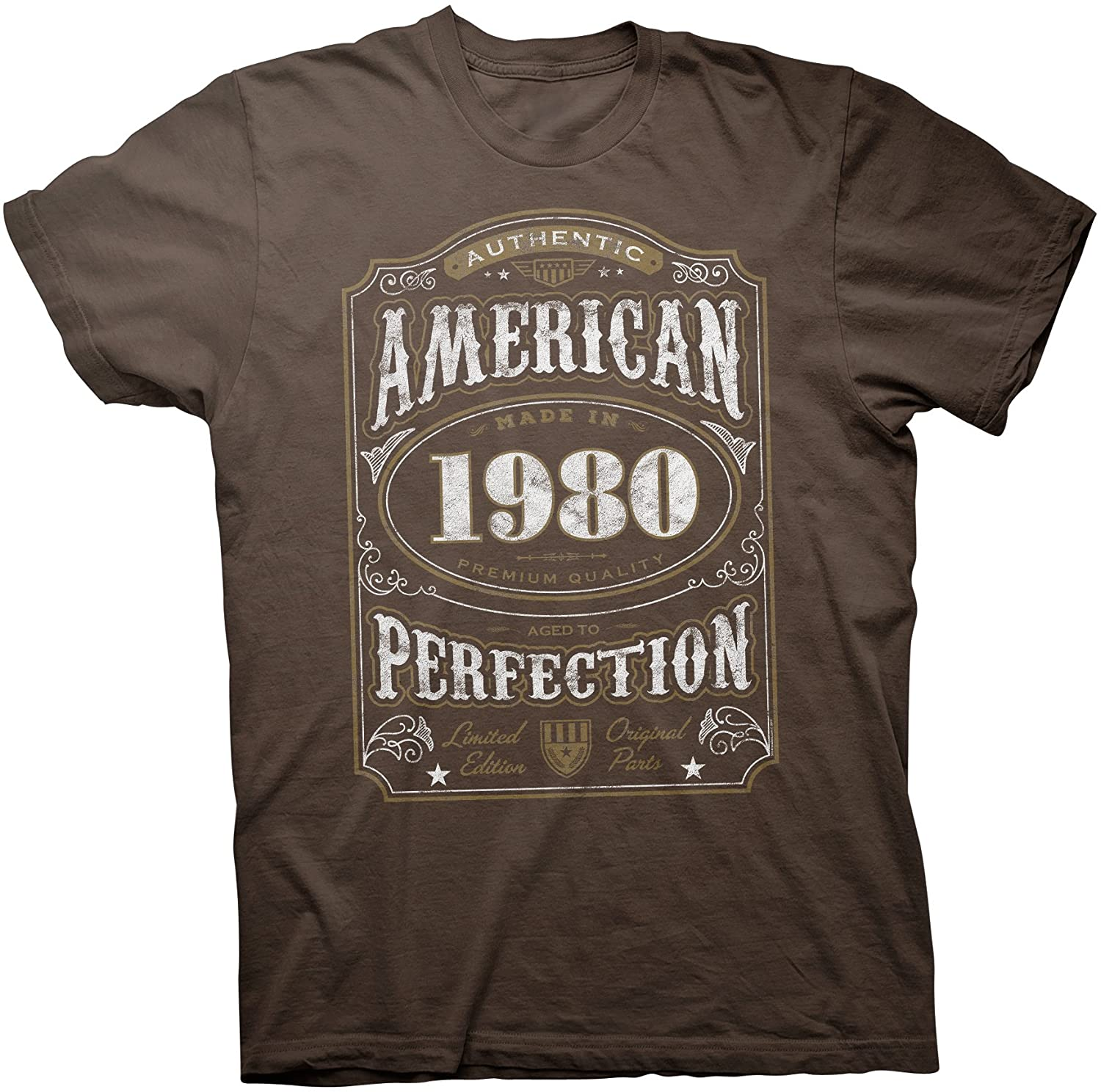 40th Birthday Gift Shirt - Authentic American 1980 Aged to Perfection