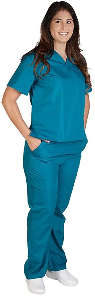 M&M SCRUBS Women Scrub Set Medical Scrub Top and Pants