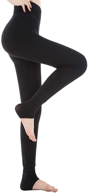 Diravo Womens Fleece Lined Leggings,Thick Warm Leggings,Elastic Tights Leggings,Thermal Winter Leggings