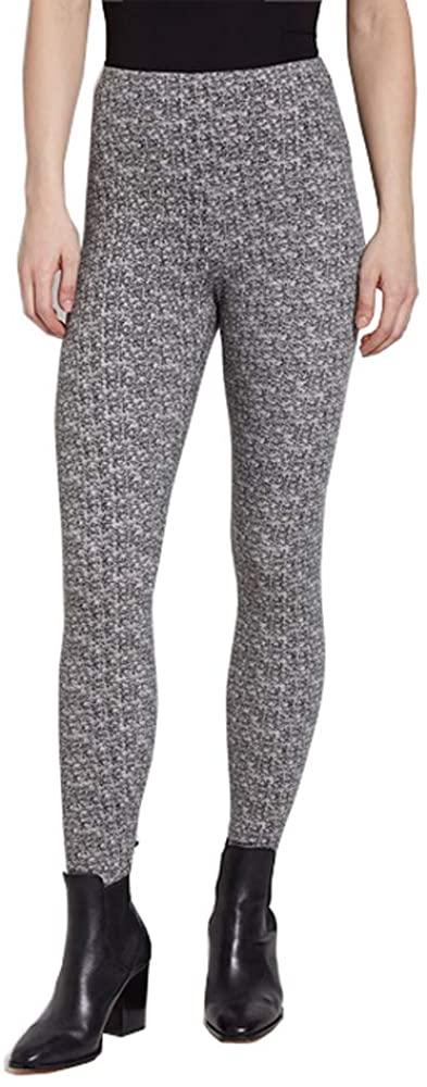 Lysse Women's Denim Tight Ankle Legging Pants (Tweed Print,XL)